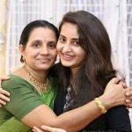 Bhama with her mother Shylaja