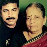 Brahmaji with his mother