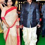 Brahmaji with his wife Sashwaty