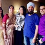 Charmy Kaur with his family