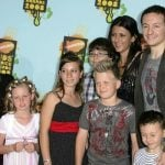 Chester Bennington with his wife Talinda and children