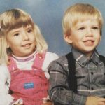 Danielle Maltby with her brother