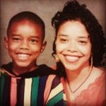 DeMario Jackson with his mother