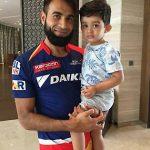 Imran Tahir with his son