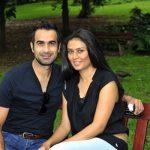 Imran Tahir with his wife