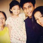 Indraneil Sengupta with his mother, daughter and wife