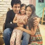 Indraneil Sengupta with his daughter and wife
