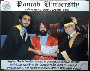 Jagjeet Sandhu receiving his degree
