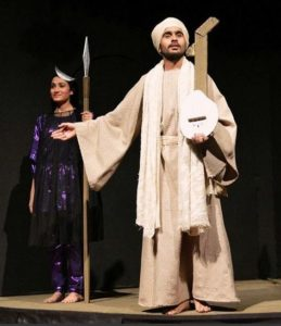 Jagjeet Sandhu during a play
