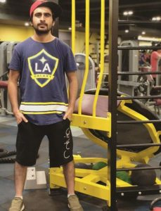 Jagjeet Sandhu in gym