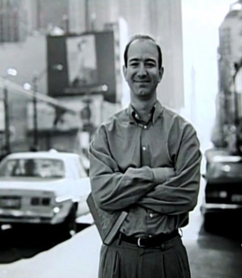 A photo of Jeff Bezos from his first job days