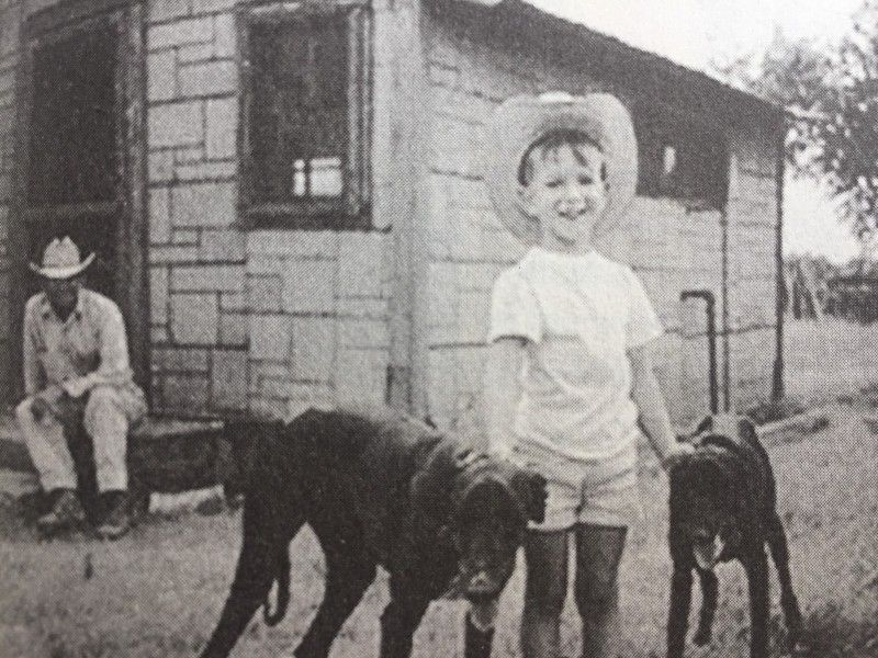 Jeff Bezos With His Grandfather in Texas in 1969