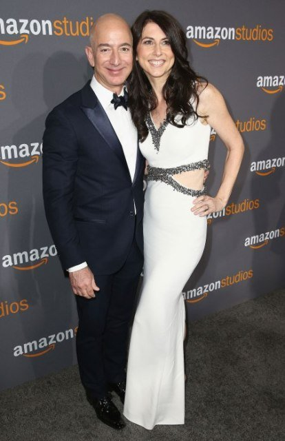 Jeff Bezos With His Ex-Wife