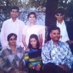 Jennifer Mistry Bansiwal with her family