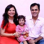 Jennifer Mistry Bansiwal with her husband Bobby Bansiwal and daughter Lekissha Mistry Bansiwal