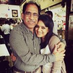 Kaneez Surka with her father