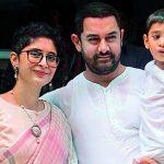 Kiran Rao with her ex-husband & son