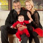 Lucky Ali with his third wife and son