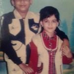 Madhumita Sarkar brother (Childhood Picture)