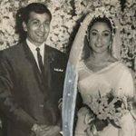 Mala Sinha with Husband