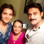 Manav Gohil with his mother Sudha and wife Shweta Kawatra