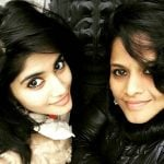 Megha Akash with her mother