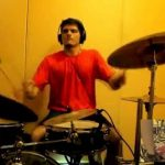 Nachiket Karekar practising Drumset