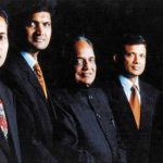 Naveen Jindal (extreme left) with his father (centre) and 3 Brothers