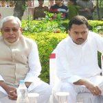 Nitish Kumar with his son Nishant Kumar
