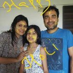 Pankaj Tripathi with his wife and daughter