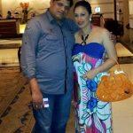 Preeti Mahapatra with her husband Harihara Mahapatra
