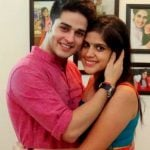 Priyank Sharma with his sister