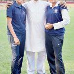 Rajeshwari Gayakwad with his father and sister Rameshwari