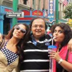 Ridhima Bedi with her father and sister