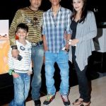 Riyaz Khan with his wife and sons