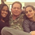 Sushila Charak Daughters Arpita Khan And Alvira Agnihotri with Salim Khan