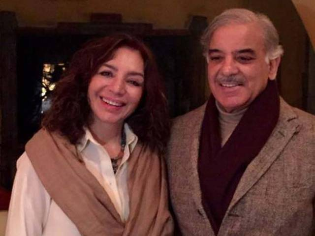 Shehbaz Sharif with Tehmina Durrani