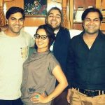 Shweta Mehta with her brothers