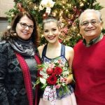 Sophia Dominguez-Heithoff with her parents