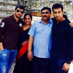 Sujeeth with his family