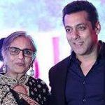 Sushila Charak with son Salman Khan