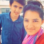 Sushma Verma with her brother