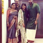 Varun Tej with his family