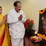 Venkaiah Naidu with his wife