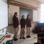 Yashasvini Jindal (extreme left) Class 9