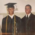 Young Jason Jordan with his brothers