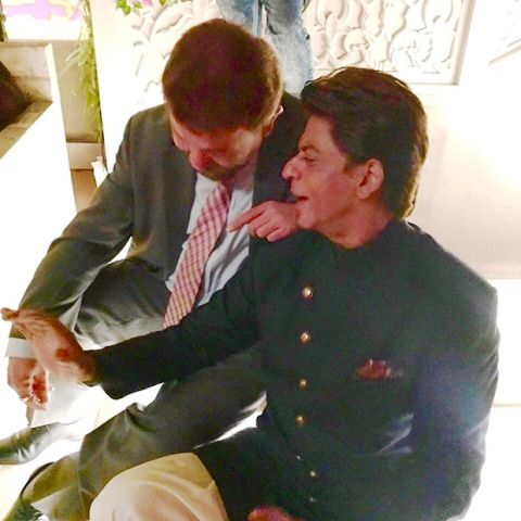 Zubin Irani with Shah Rukh Khan