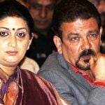 Smriti Irani with her husband Zubin Irani