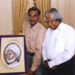 APJ Abdul Kalam With The Painting of His Father