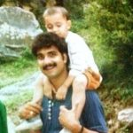 Abhishek Verma (Childhood) with his father Shrikant Verma